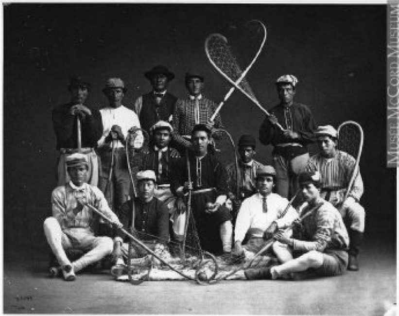 A lacrosse game with the 1867 touches – 150th Anniversary of Lacrosse Celebration