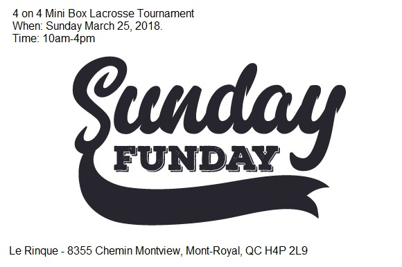 Lax Sunday Funday – 4 on 4 Mini Tourney